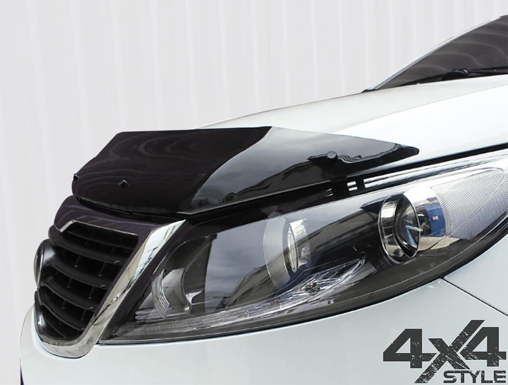 Gloss Black Acrylic Bonnet Deflector - Kia Sportage 2010>2015
