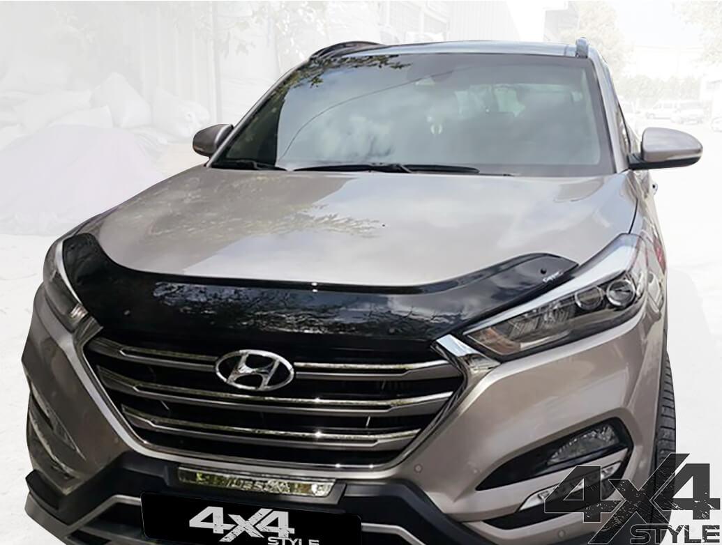 Gloss Black Acrylic Bonnet Deflector - Hyundai Tucson 2015>