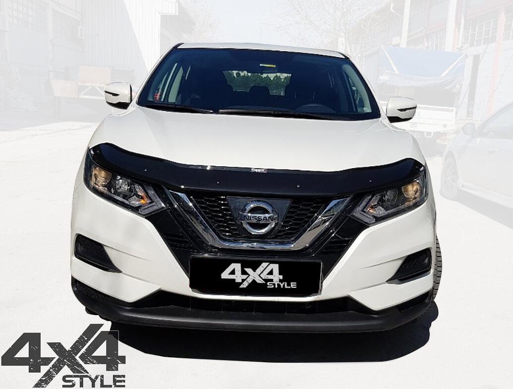 Gloss Black Acrylic Bonnet Deflector - Nissan Qashqai 2017>