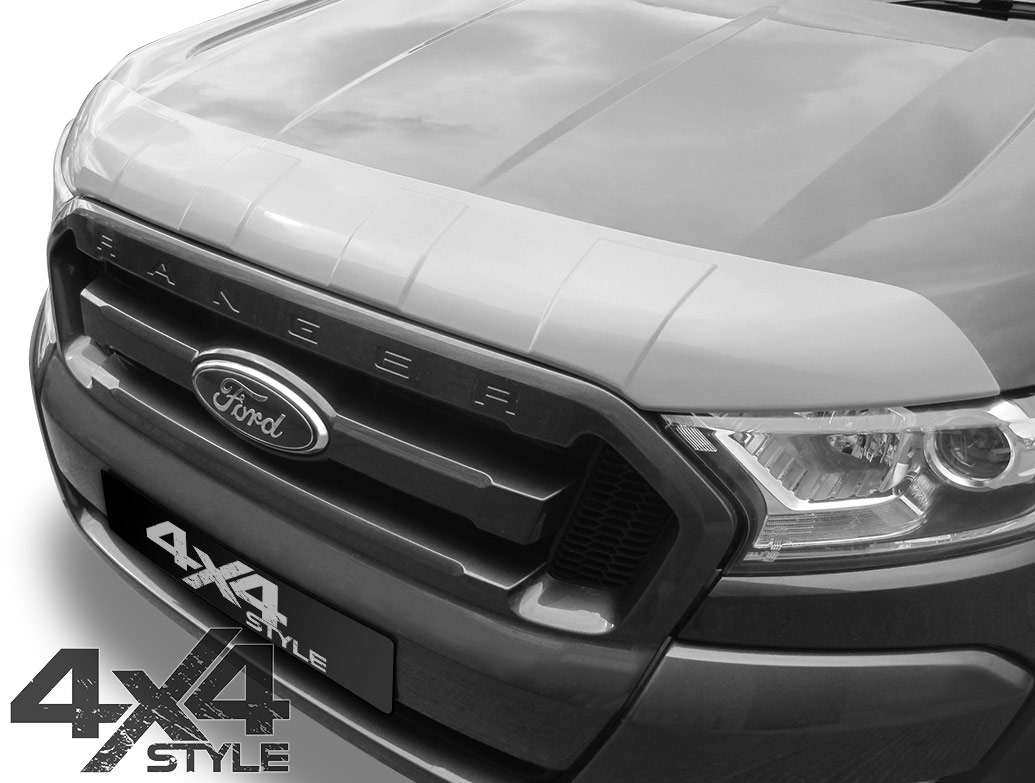 Silver ABS Bonnet Stone Chip Protector - Ford Ranger (T6) 2015>