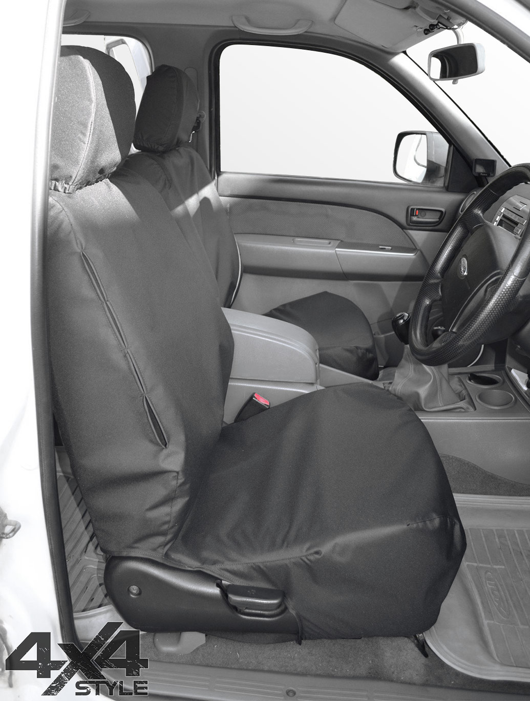 Tailored Fit Front Black Seat Cover Set - Ford Ranger 06-11