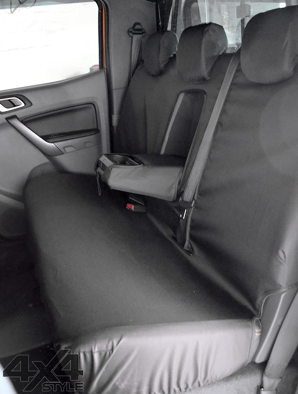 Tailored Fit Rear Bench Black Seat Covers - Ford Ranger T6 12>