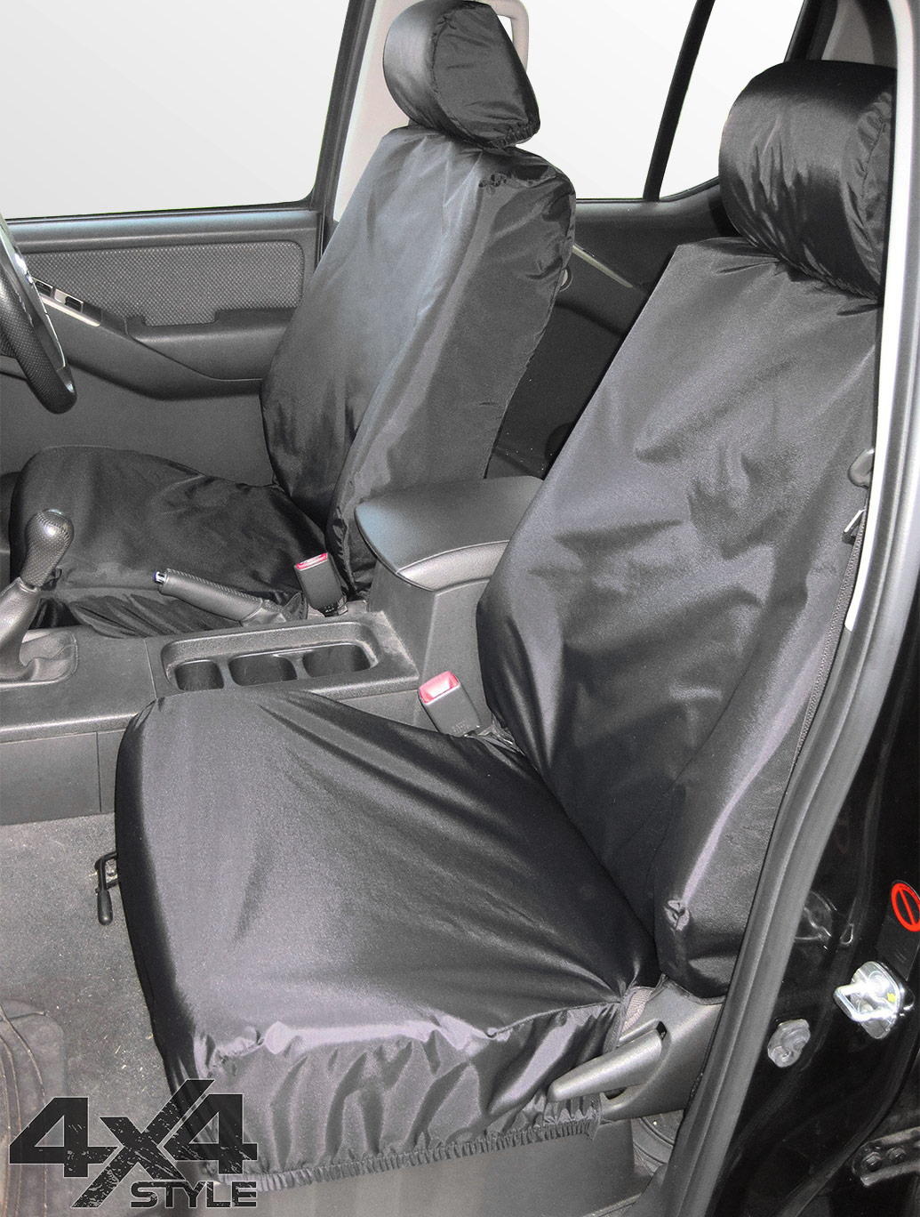 Tailored Fit Front Black Seat Covers - Nissan Navara D40 05-16