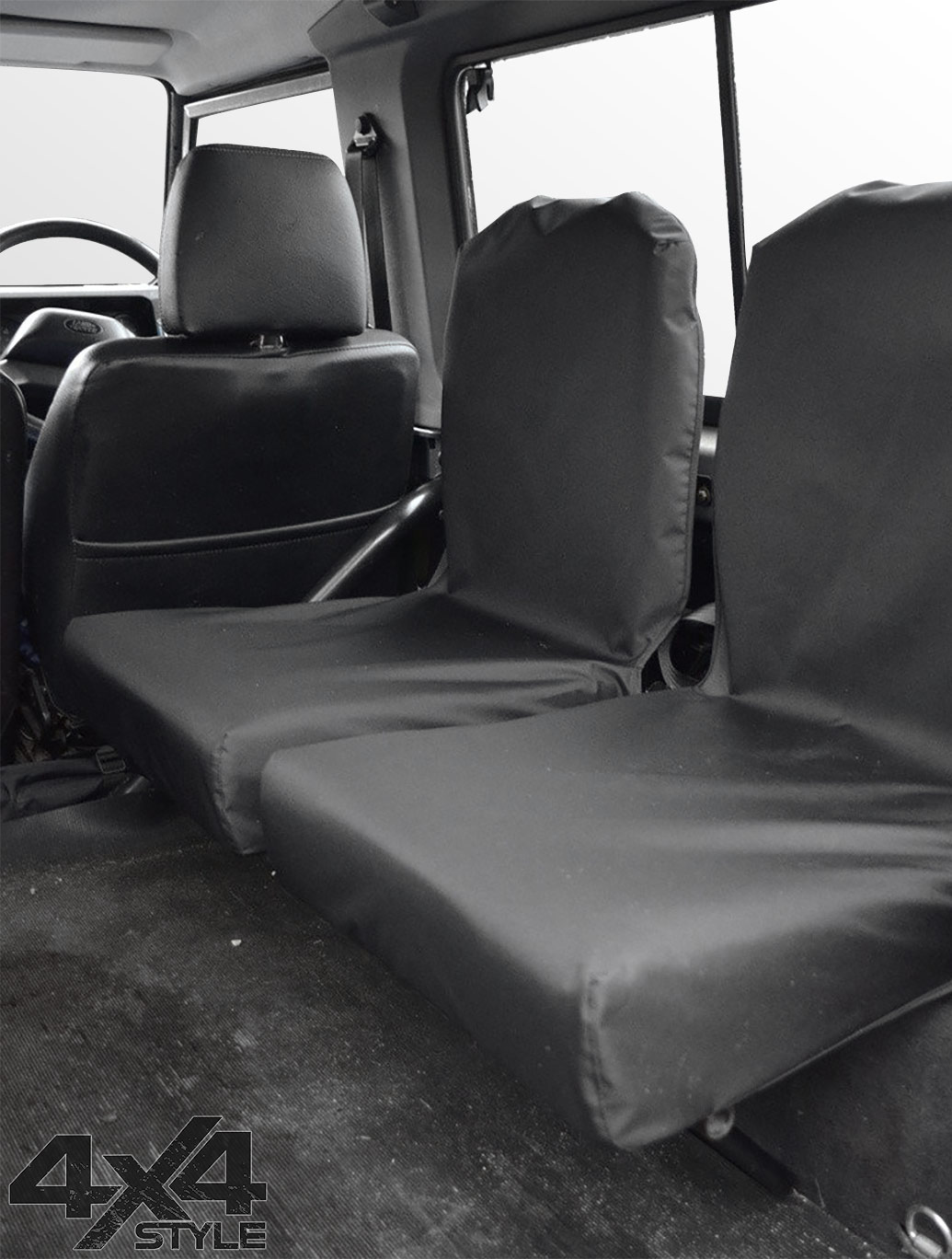 Tailored Fit Black Twin Dickie Seat Covers - L.R Defender 83-07