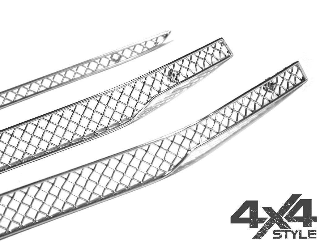 Zunsport Polished Chrome Upper Grille Set - Toyota Hilux 15>
