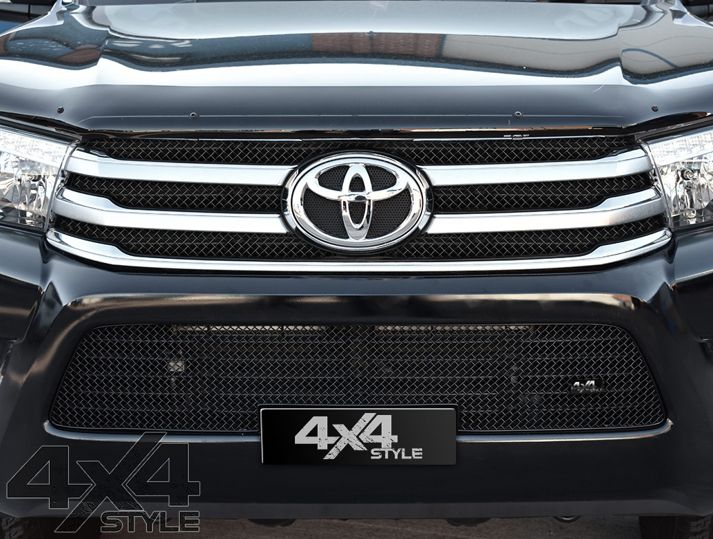 Zunsport Black Nylon Coated Lower Mesh Grille - Toyota Hilux 15>