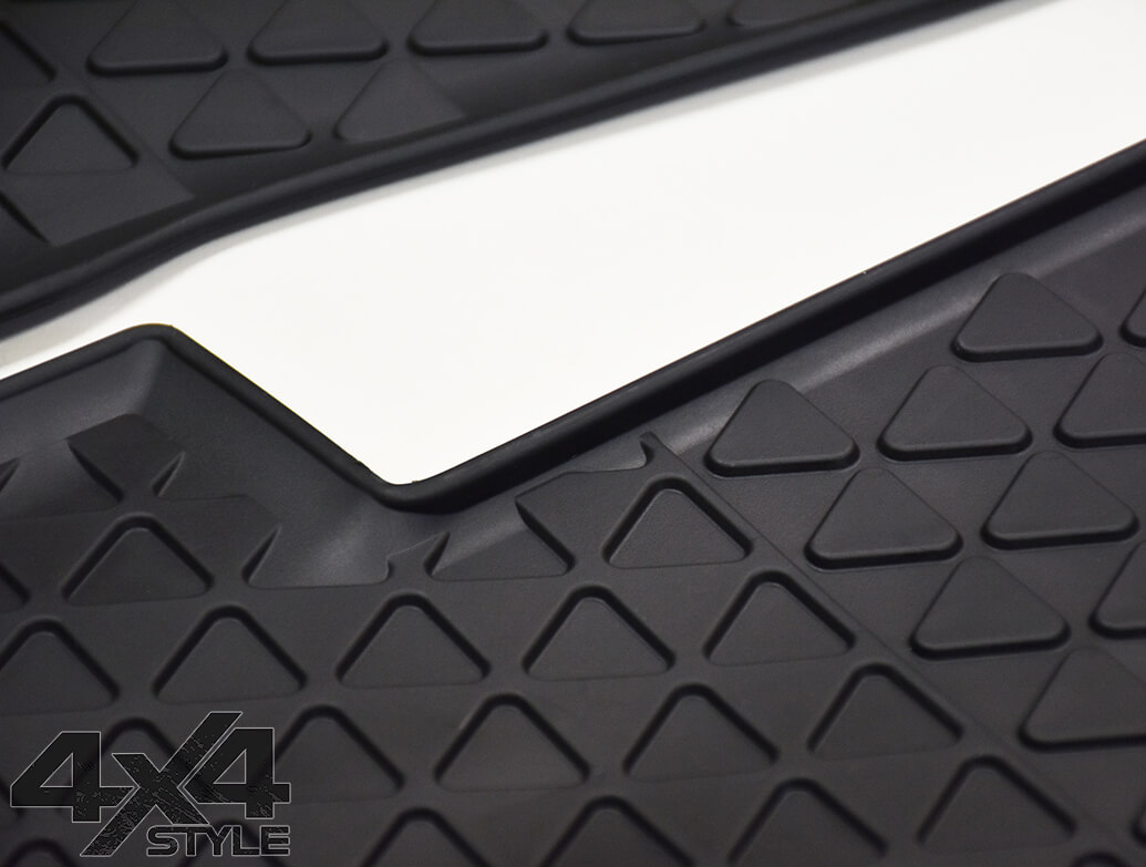Genuine VW OE Front Heavy Duty Rubber Mats - VW Amarok 10>