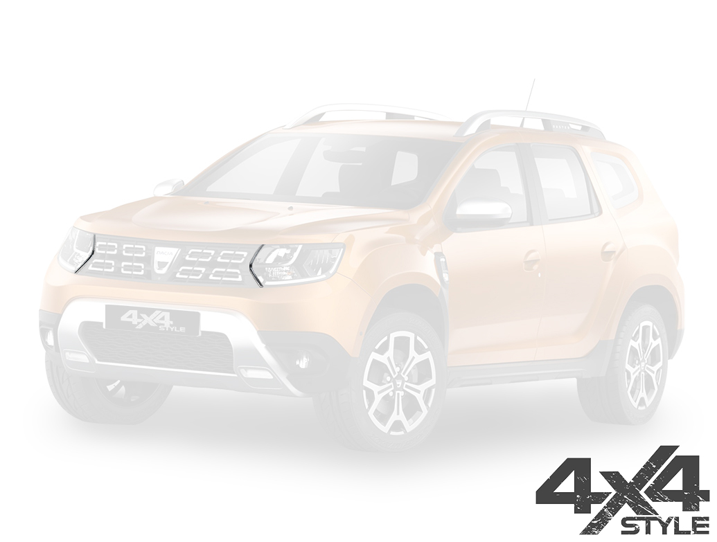 Stainless Steel Front Grille Streamers - Dacia Duster 18>