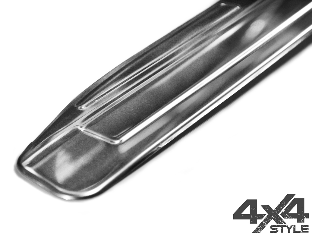 Polished Rear Bumper Sill Cover - Dacia Duster 2018>