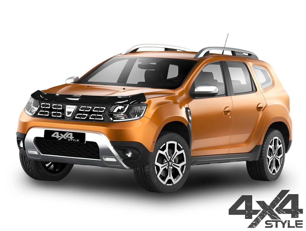 Gloss Black Acrylic Bonnet Deflector - Dacia Duster 18>