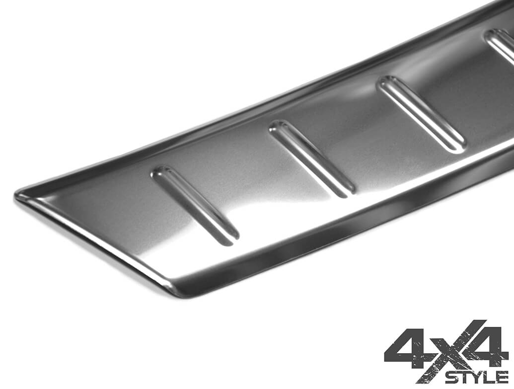 Polished Stainless Steel Rear Bumper protector - Audi Q2 16>
