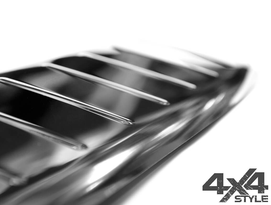 Polished Stainless Steel Rear Bumper Protector, Peugeot 2008 17>