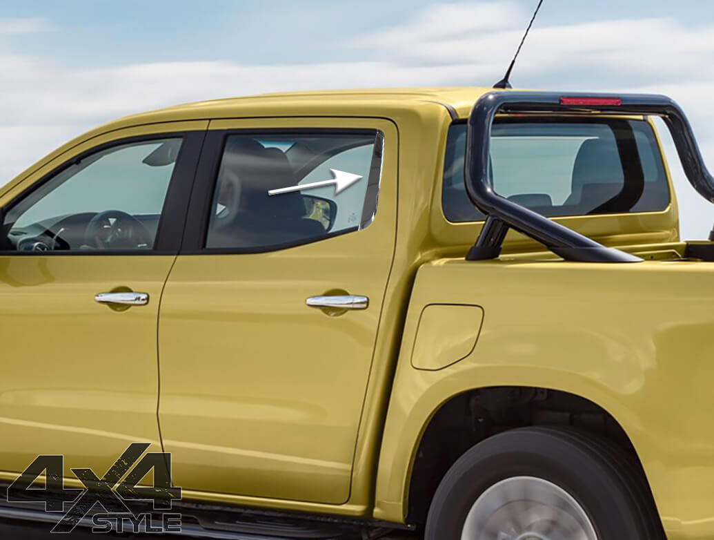 Stainless Steel Rear Window Pillar Trim - Mercedes X-Class 2017>