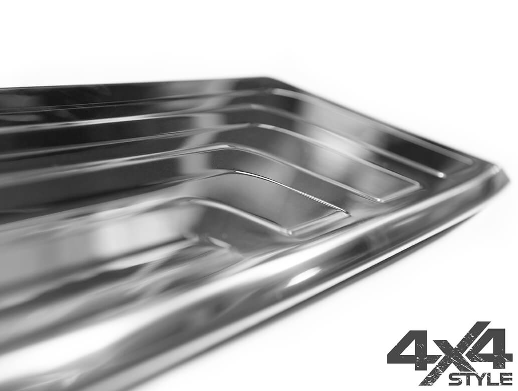 Brushed Stainless Steel Rear Bumper Cover - Mercedes X-Class 17>