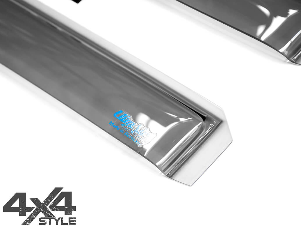 Climair Rear Smoked Wind Deflectors - L200 Double Cab 2015>
