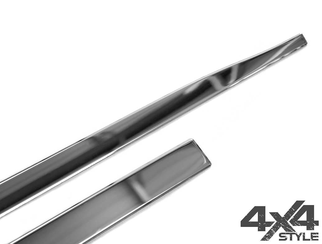Polished Stainless Steel Side Door Streamers - Crossland X 17>