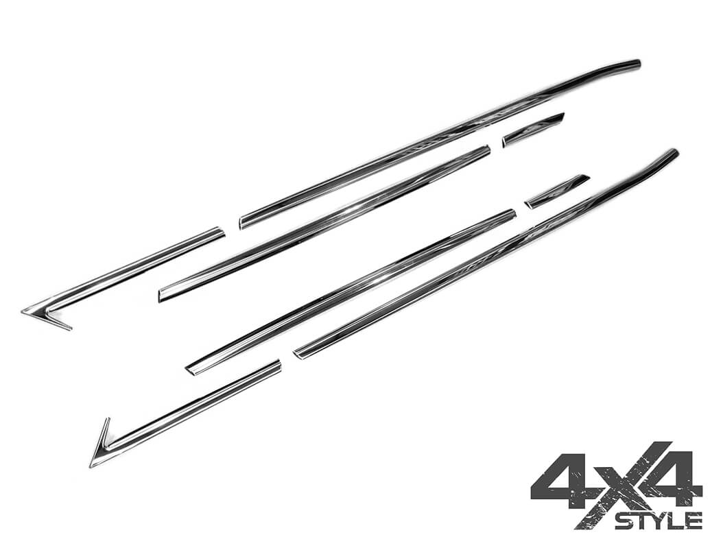 Polished Stainless Steel Window Trim Set - Crossland X 17>
