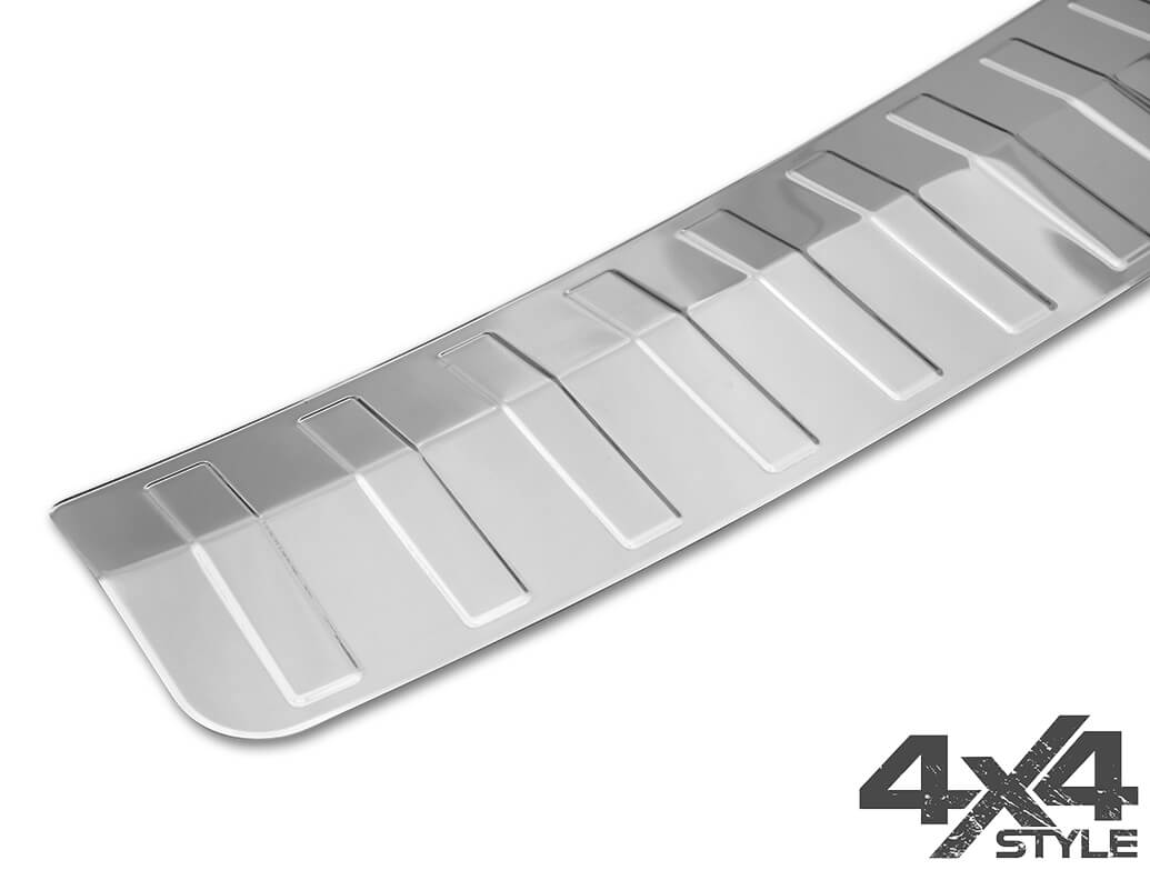Polished Stainless Steel Rear Bumper Protector - Skoda Karoq 17>