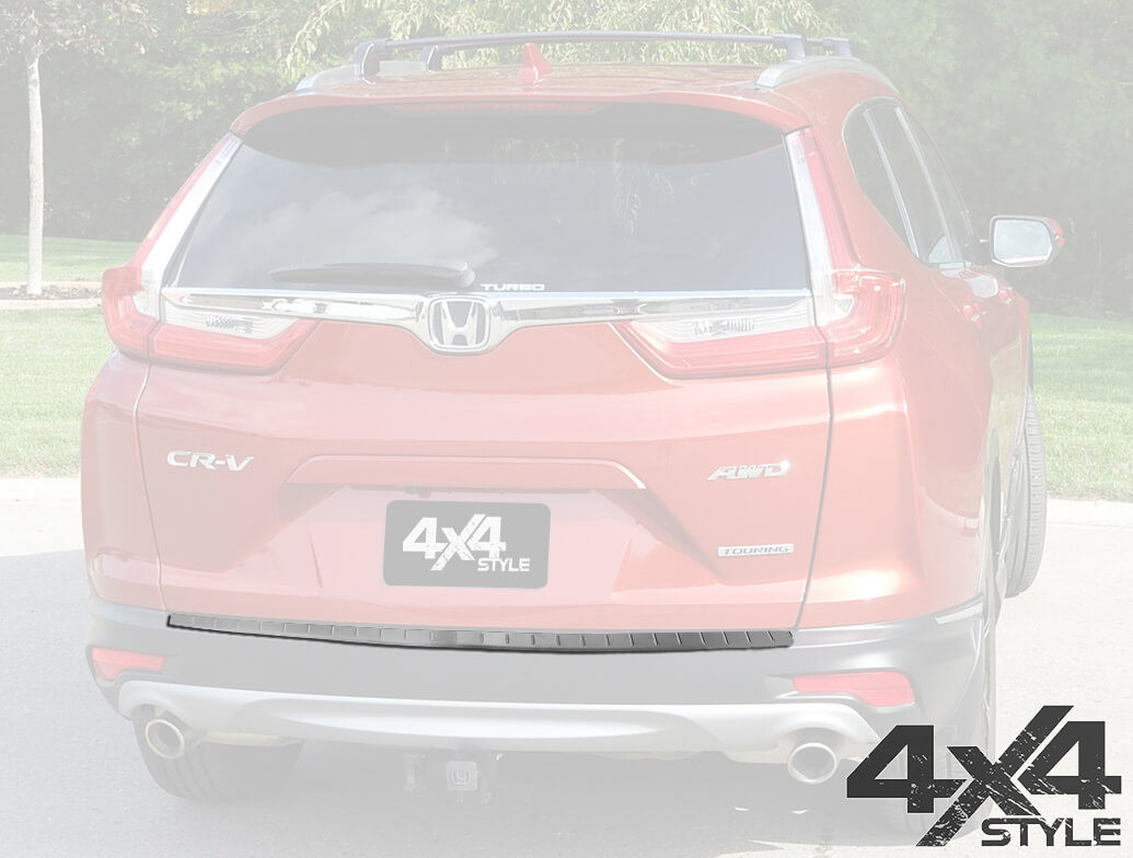 Brushed Stainless Steel Rear Bumper Protector - Honda CRV 17>