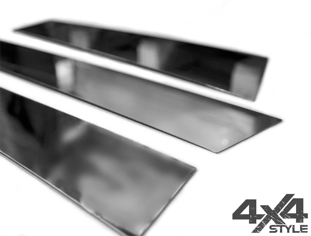 Polished Stainless Steel B-Pillar Covers - Jeep Renegade 14>