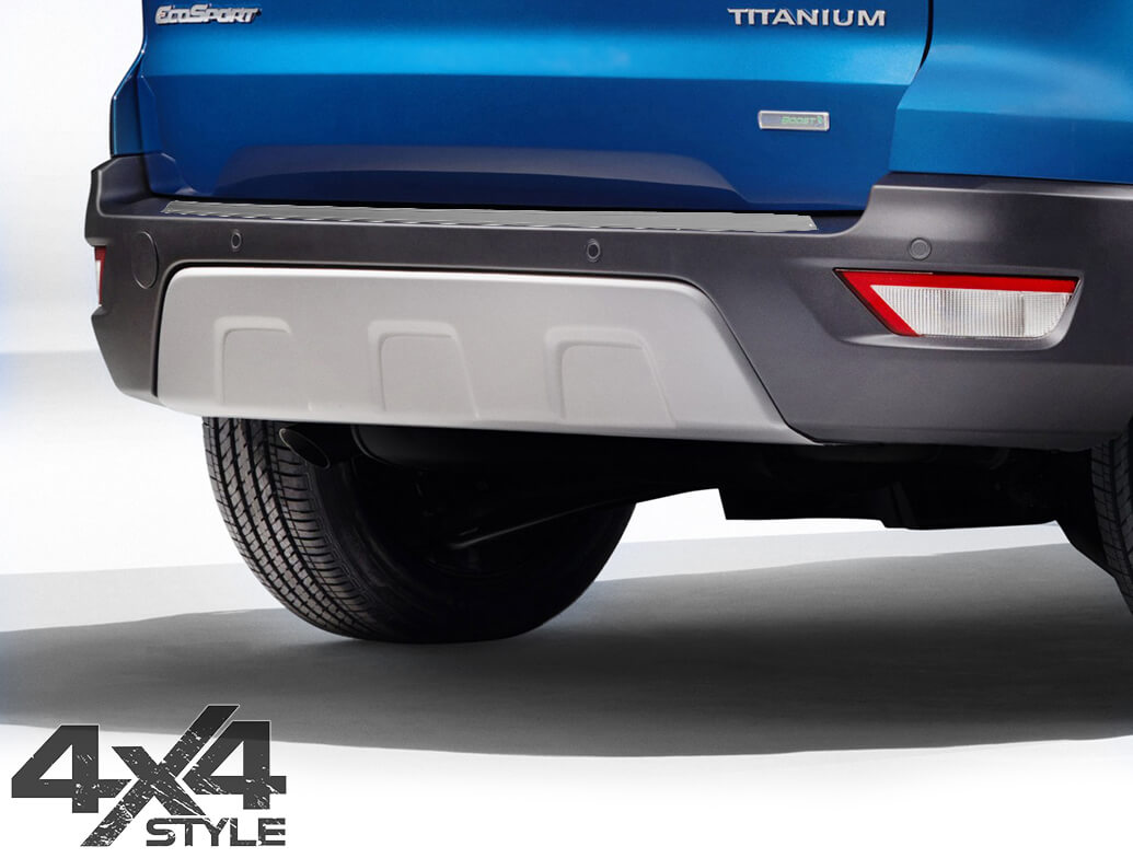 Brushed Stainless Steel Rear Bumper Protector - Ford Ecosport