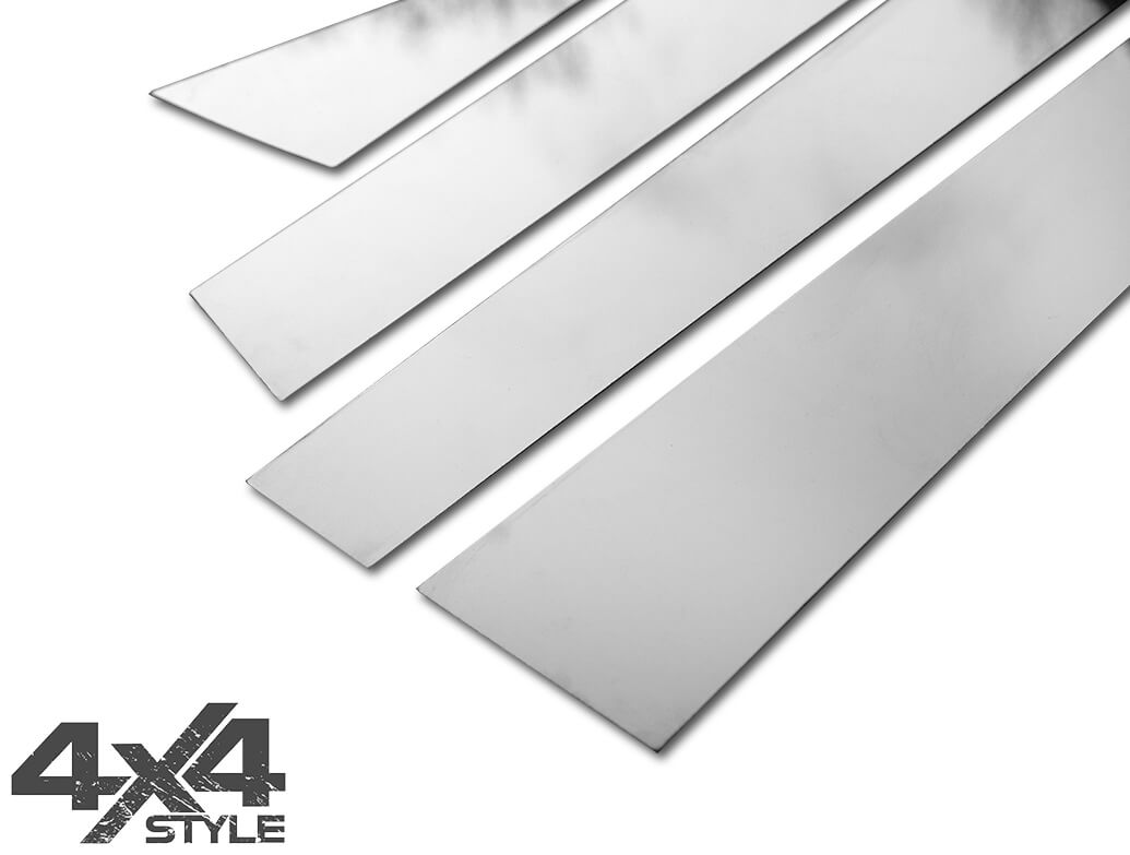 Polished Stainless Steel B-Pillar Covers - Nissan X-Trail 2014