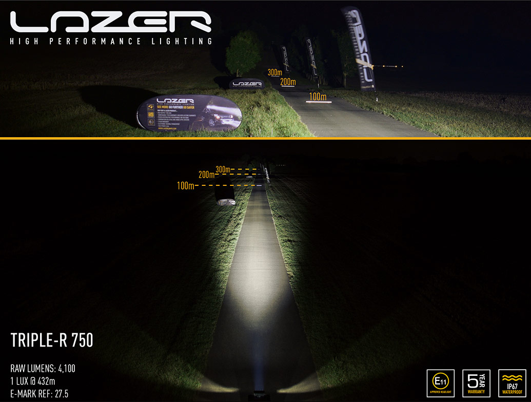 Lazer Triple-R 750 - LED Spot Light - VW Amarok 2011> Twin Kit