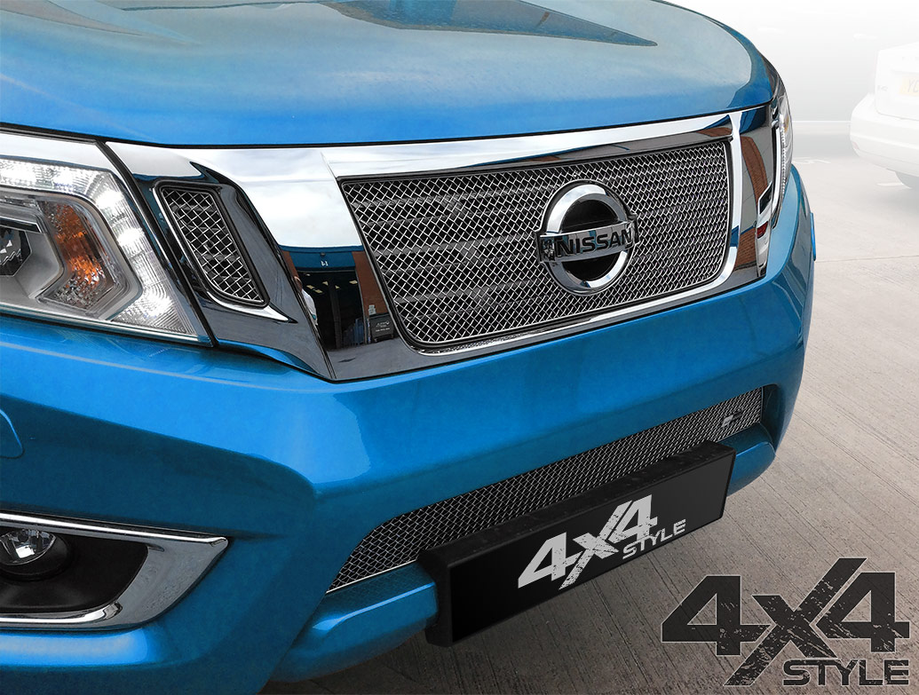 Zunsport Polished Stainless Steel Full Grille Set - Navara 2016>
