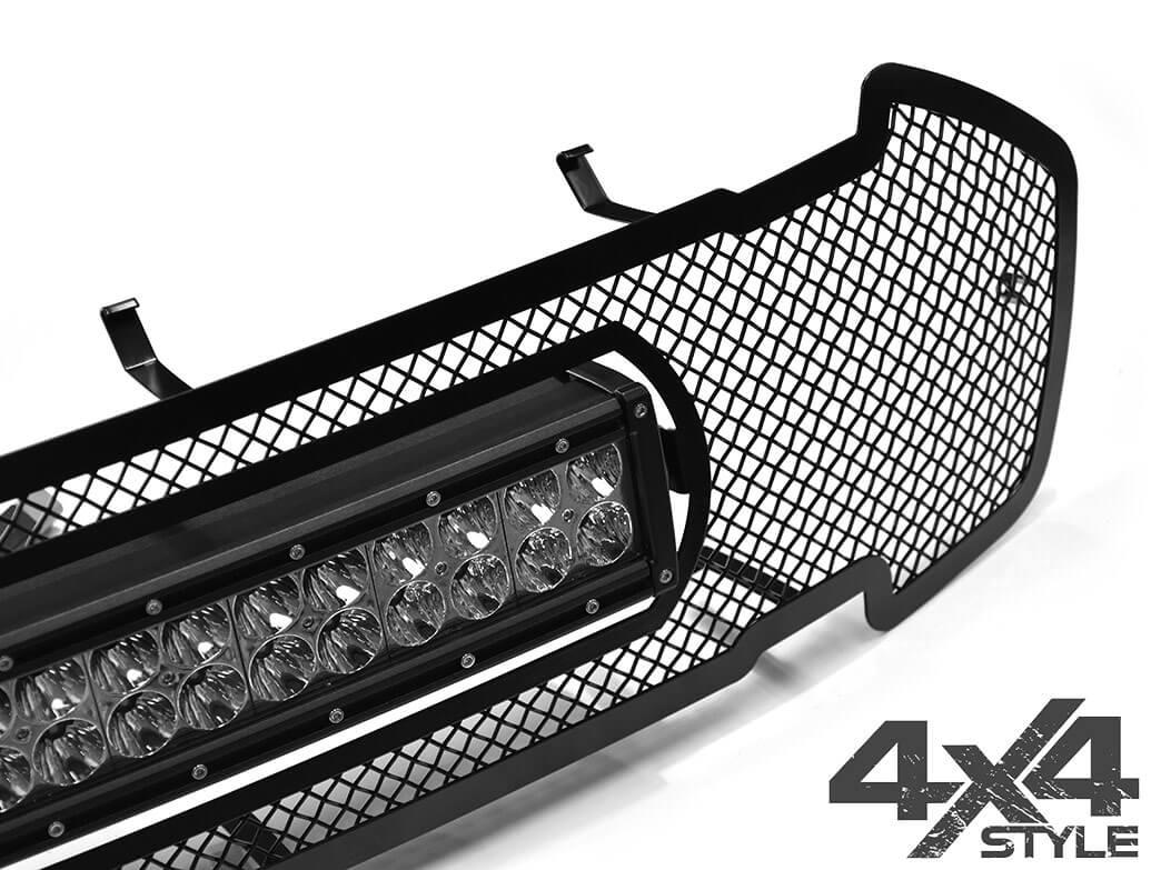 Zunsport Black Upper & Lower Grille w/ 20in Light - Ranger 15>