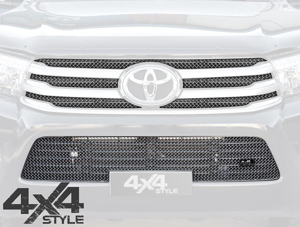 Zunsport Polished Chrome Full Grille Set - Toyota Hilux 15>