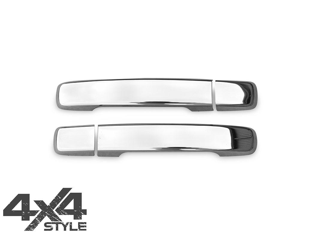 Polished Stainless Steel Door Handle Cover 4 Door - Navara 05>15