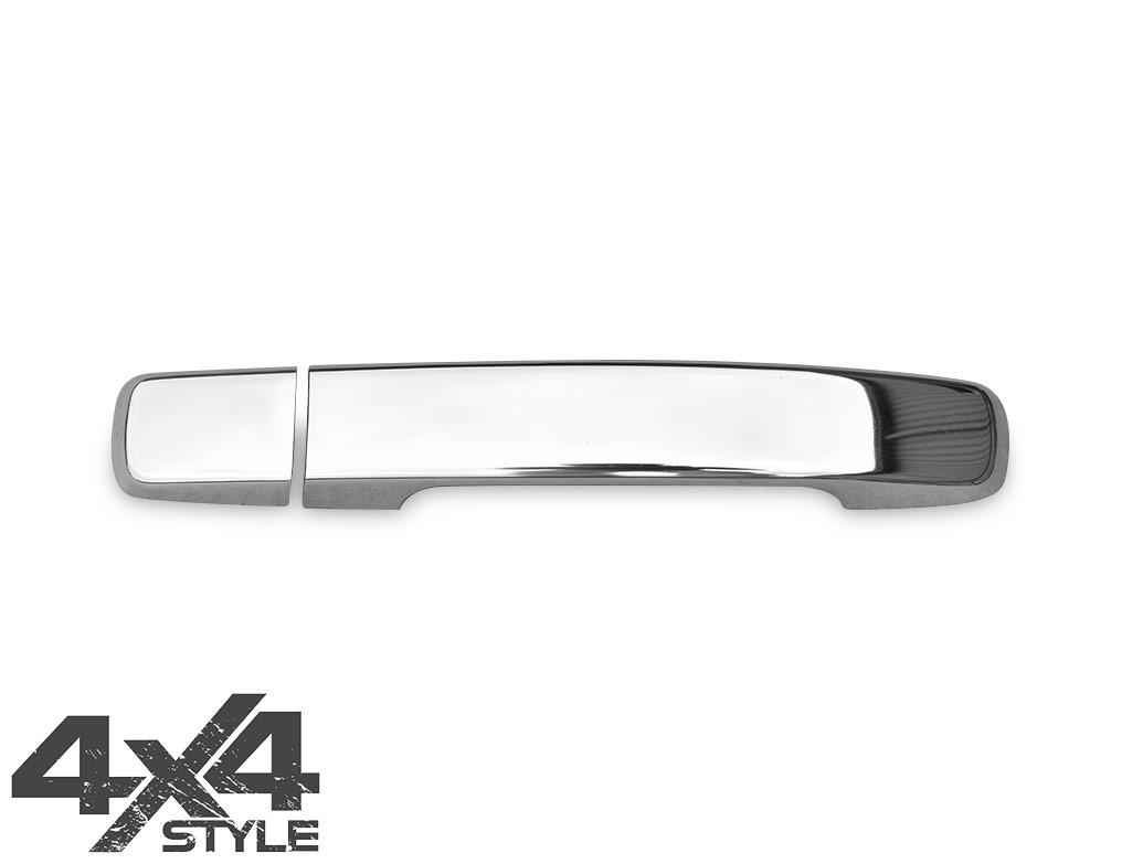 Polished Stainless Steel Door Handle Cover 2 Door - Navara 05>15