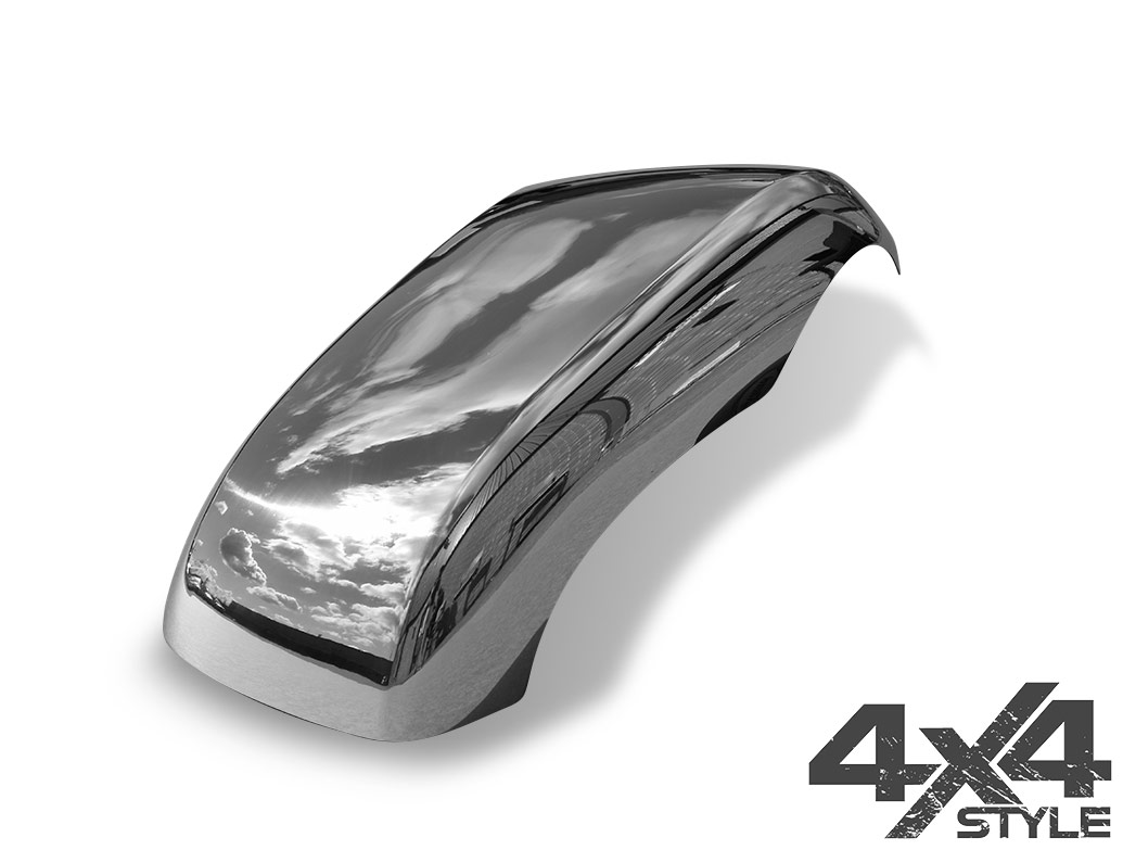 Polished Stainless Steel Mirror Covers - Nissan Navara 05>15