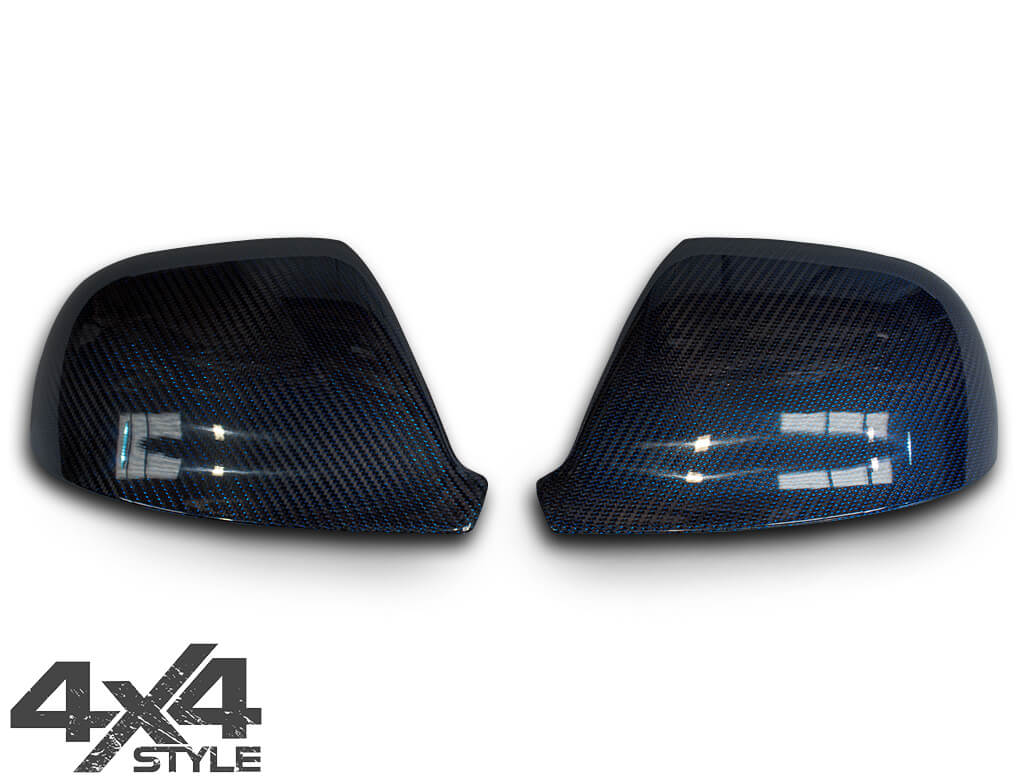 Blue Real Carbon Fibre Mirror Covers - VW Amarok 2010>