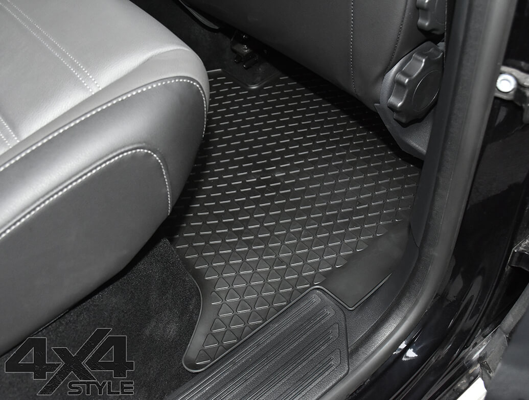 Genuine VW OE Rear Heavy Duty Rubber Mats - VW Amarok 10>
