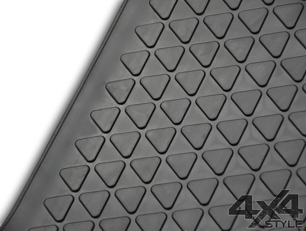 Genuine VW OE Heavy Duty Rubber Mats Front + Rear - VW Amarok