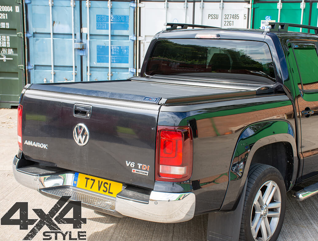 Black Roller Shutter Load Bed Protector Cover - Toyota Hilux 15>
