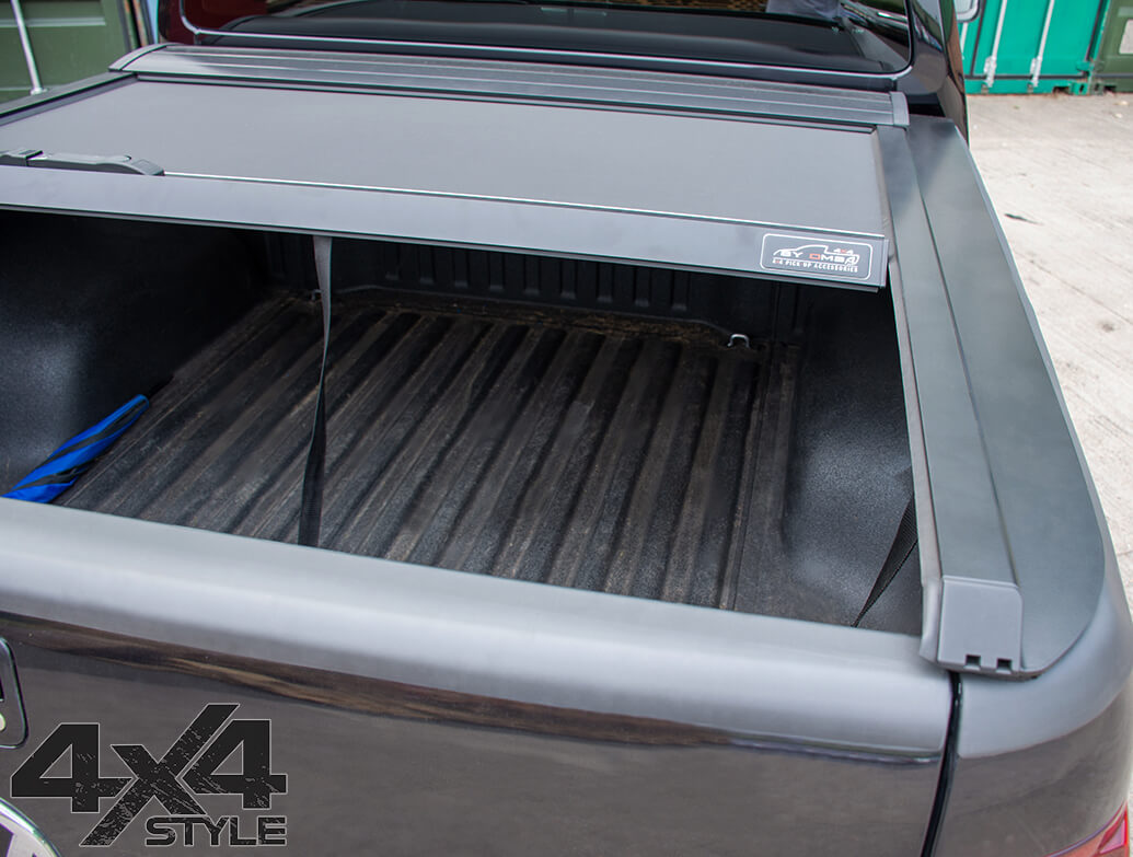 Black Roller Shutter Load Bed Protector Cover - Isuzu D-Max 12>