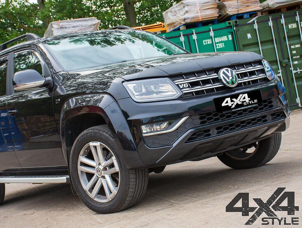 Textured Black ABS Ridged Bonnet Protector - VW Amarok 2010>